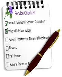 how to plan a funeral funeral service checklist guide for planning funerals memorial