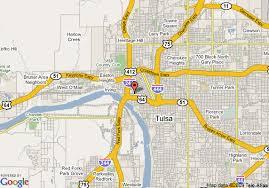 map of tulsa map of doubletree hotel tulsa downtown tulsa