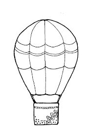 decorated air balloon coloring pages coloring sky