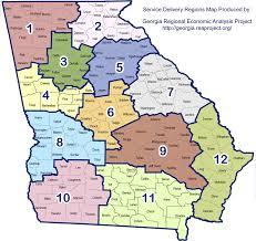 State Of Ga Map by Georgia Regional Economic Analysis Project Ga Reap