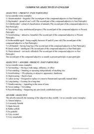 17 free esl compound adjectives worksheets