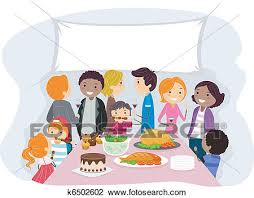 clipart of family gathering k6502602 search clip