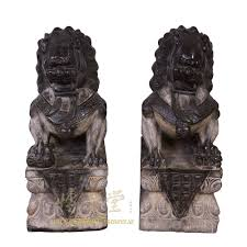 foo dog statue 31 antique foo dog statue a pair 28x22