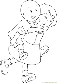 caillou coloring pages games download free