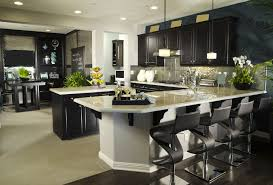 Kitchen With Bar Table - 124 custom luxury kitchen designs part 1