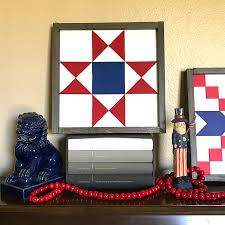 patriotic home decor barn quilt blocks u2013 two ways