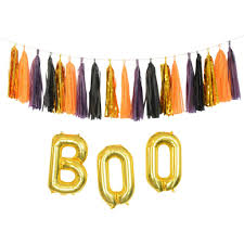 glam chic halloween decorations gold black plum and orange chic