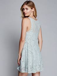 free people forever and ever lace dress in blue lyst