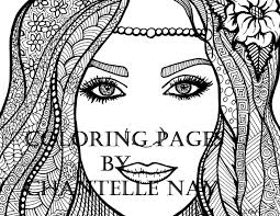 elora coloring page woman face coloring picture