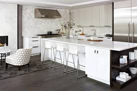 Grey Wood Floors Kitchen by White Kitchen Grey Floor Wood Floors