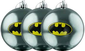 batman logo bauble ornament 3 pack ikon collectables