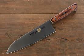Japanese Kitchen Knives Uk Seto Iseya Steel 180mm Santoku Knife With Mahogany Handle U2013 The