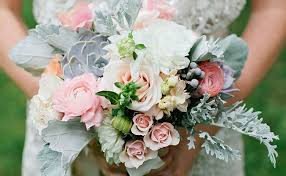 wedding bouquet flowers dusty miller leaves are the textured accent for your
