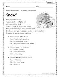 worksheet reading comprehension passages for 3rd grade wosenly at