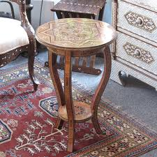 moroccan u0026 syrian furniture syrian mosaic table inlaid with