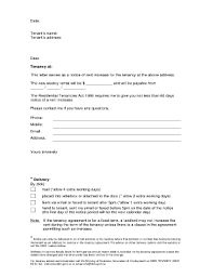 notice of rent increase forms and templates fillable u0026 printable
