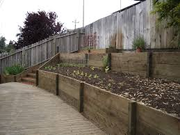 download treated lumber retaining wall garden design