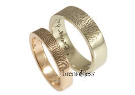 fingerprint wedding bands brent jess fingerprint wedding rings ruffled