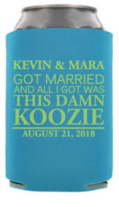wedding koozie wedding quote can coolers cheap wedding can coolers