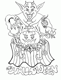 Easy Halloween Coloring Pages by Halloween Coloring Pages Online Print Kids Coloring