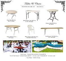table and chair rentals utah wedding rentals utah tables chairs weddings for less inc