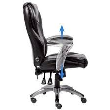 Serta Office Chair Review Serta Black Bonded Leather Executive Office Chair 43676 The Home