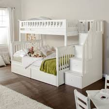 two floor bed baby nursery modern bed trundle with bed set white wooden