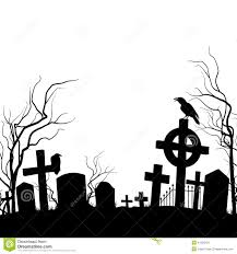 graveyard clipart black and white cemetery stock vector image 41356224