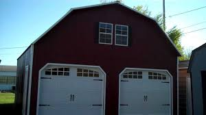 gambrel roof garages two story garage youtube