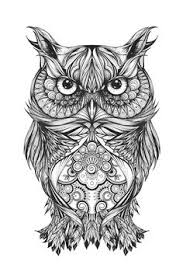 line weaving u0026 coloring an owl cro a basic front u0026 back