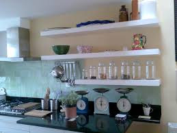 kitchen modern wall shelves with lights uotsh