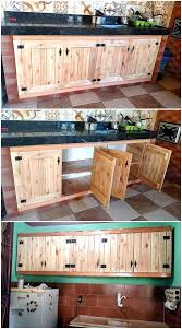 wooden pallets kitchen storage cabinets pallet ideas