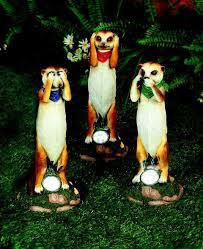 see hear and seek solar powered meerkat garden ornaments
