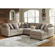 City Furniture Sofas by Benchcraft Pantomine 4 Piece Sectional With Right Chaise Value