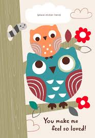 two owls customizable s day card for from child