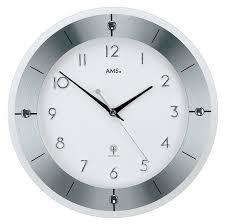 Wohnzimmer Uhren Funk Amazon De Ams 5848 Wanduhr Funk Modern Metall