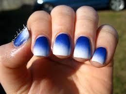blue ombre nails nails pinterest white nails