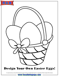 blank easter baskets easter basket with 3 blank eggs coloring page h m coloring pages