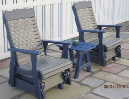 Outdoor Single Glider Chair Gliders And Poly Porch Swings Chambersburg Pa