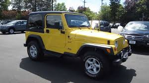 yellow jeep 4 door 2002 jeep wrangler yellow stock 730918 youtube