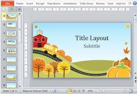 attractive templates for ppt fall fun powerpoint template
