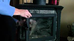 how to clean your wood stove fireplace glass youtube