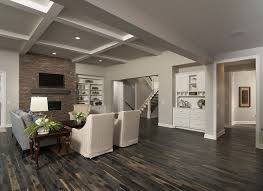 Gas Mantle Fireplace by Open Concept Living Room Wire Brushed Hardwood Oak Floors