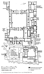 hampton court palace first floor plan under henry viii circa