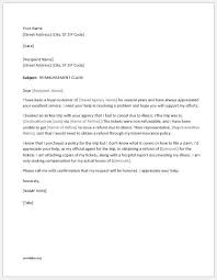5 best claim letters for all situations word document templates