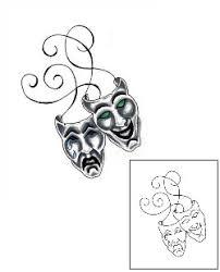 tattoo johnny comedy tragedy mask tattoos