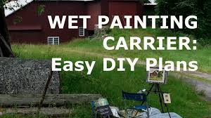 oil painting workshop 9 how to make a wet painting carrier easy