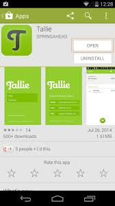 tallie installing tallie for android