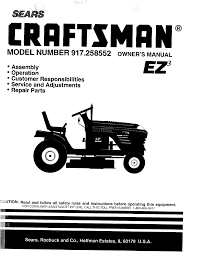 sears lawn mower 917 258552 user guide manualsonline com