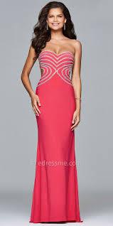 heart shaped rhinestone bodice prom dress by faviana